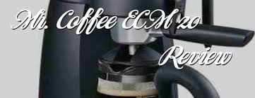 Mr Coffee Steam Espresso Machine ECM20 Review