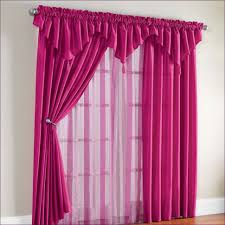 Pink Ruffled Window Curtains by Living Room Swag Curtains Kohls Sheer Ruffled Priscilla Curtains