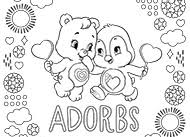 Adorable Cozy And Wonderheart Bear Heart Penguin Coloring Page