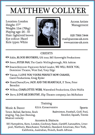 Theatre Resumemplate Free Actor Open Office Musical Theater Word Acting Resume Template