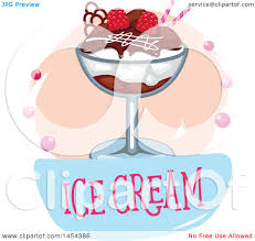 Clipart Graphic of an Ice Cream Sundae Design Royalty Free Vector Illustration by Vector Tradition SM