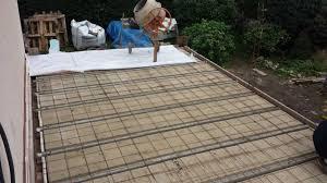 faire une dalle exterieur comment réaliser une fondation et une terrasse en béton armé