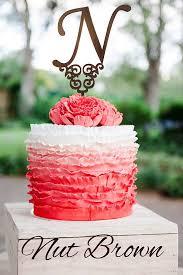 Cake Topper Letter N Gold Monogram Wedding