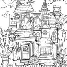 Printable Haunted House Coloring Page