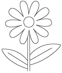 Easy Flower Coloring Pages 14 Printable