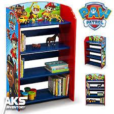 Paw Patrol Bookshelf Kids Bedroom Storage Children Furniture Books
