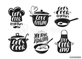 cooking chef cuisine cooking cookery cuisine label set cook chef kitchen utensils