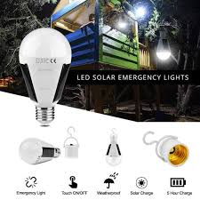 solar rechargeable 12w led light bulb stealth survival