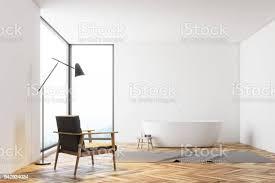 panorama weiße badezimmer einem sessel stockfoto und mehr bilder architektur
