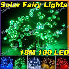 cheap 18m 100 led solar string fairy lights outdoor waterproof