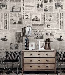 Newspaper Style Wallpaper For Walls Best 25 Ideas Wall