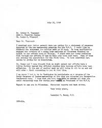 Letter From Dr Berry To Dr Arthur Townsend
