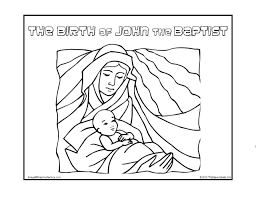 Birth Of John The Baptist Coloring Pages Printable