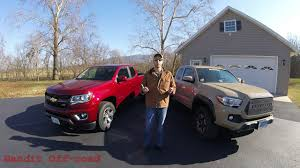 Z71 Colorado Vs. TRD Off-road Tacoma - Detailed Midsize Truck ... Pickup Trucks Comparison Beautiful Toyota Truck Size Parison Wow 2018 Ram 1500 Vs Ford F150 Royal Gate Dodge 1957 Ranchero Vs 1959 Chevrolet El Camino Trend Pictures What Is The Best Full Top 6 Test 2011 Gmc Sierra Road Reality 2016 Colorado Canyon Diesel Toyota Tacoma Declines Chevy Gains In January 2017 Sales 12ton Shootout 5 Trucks Days 1 Winner Medium Duty 2500 Build Package Ram Trim Spearfish Sd Juneks Cdjr 3rd Gen And 4th Shots