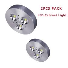 t 2pcs pack led cabinet light led puck lights 3000k