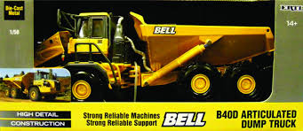 100 Articulating Dump Truck BELL B40 ADT Articulated 150 Scale Diecast By ERTL
