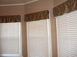 Modern Valances For Dining Room With Brown Pattern Windows White Window Blind Of Glass