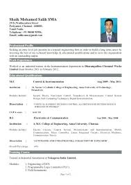 Engineering Student Fresher Sample Resume For Computer Science Feat