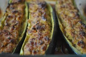 comment cuisiner les courgettes au four recette courgettes farcies à la viande hachée 750g