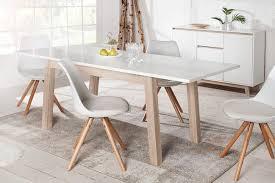 ausziehbarer design esstisch stockholm weiß 140 190 cm eiche