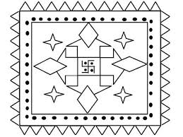 Rangoli Designs Coloring Pages 3696 Online