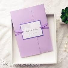 Rustic Purple Tree Pocket Wedding Invitations IWPI028
