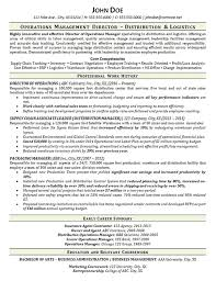 Warehouse Manager Resume Example Distribution Logistics Pertaining To Sample