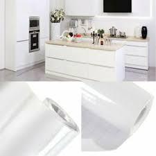 10m weiß hochglanz möbelfolie klebefolie küchenfolie