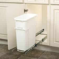 Under Cabinet Trash Can Pull Out by Diy Trash Can Pull Out Cabinet Rev A Shelf 50 Quart Plastic Pull