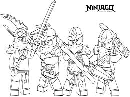 Ninjago Coloring Pages Free 19 Lego Printable With Delightful