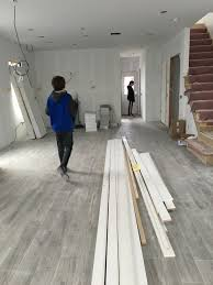 driftwood grey porcelain floor tile but what color for stairs 2nd flr