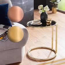 finebuy design couchtisch ø 45 cm rund glas lounge beistelltisch verspiegelt moderner wohnzimmertisch glastisch sofatisch tisch für wohnzimmer