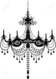 Illustration Of Retro Chandelier Silhouette Vector Art Clipart And Stock Vectors