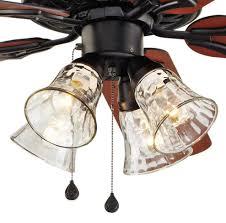 Honeywell Ceiling Fan Remote 40009 by 52 In Ceiling Fan Black Downrod Close Mount Light Kit Remote
