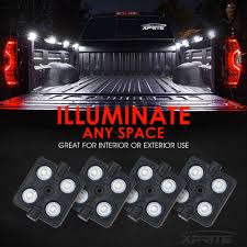 8 X White LED Square Truck Bed Light Kit & Switch | Xprite Exquisite Sets Pieces Car Led Interior Decoration Under Dash 2010 2014 F150 Raptor Led Ambient Lights F150ledscom Lil Ray Raises Bar On Interior Truck Design With Pride Polish Amazoncom Strip Light Wsiiroon 4pcs 48 Multicolor Automotive Bars Strips Halos Bulbs Custom Kits Colored Lighting Services In Evansville Newburgh Southern 8x24 Undeglow Tubes 6x10 4x3ft Wheel Stunning Bar Headlights In My 1985 Chevy Silverado Trucks My Truckzzz Youtube