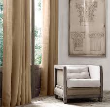 Restoration Hardware Curtain Rod Extension by Weave Burlap Drapery