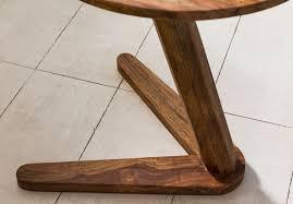beistelltisch boha massivholz sheesham design wohnzimmer tisch 45 x 45cm rund nachttisch natur holz landhaus stil