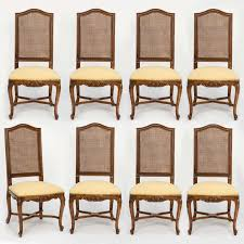 Wonderful Set Of 8 Dining Chairs Amply Sized High Back For Comfort Upholstered Seat