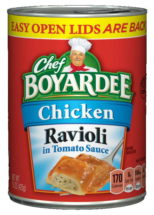 Chef Boyardee Chicken Ravioli in Tomato Sauce - 15oz