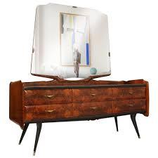 Mid Century Modern Dresser Sideboard Mirrored Style Osvaldo Borsani Burl