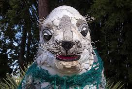 Mounts Botanical Gardens has trashy sculptures on display