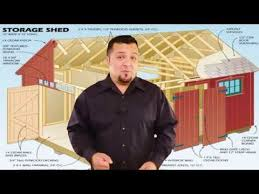 10x20 Storage Shed Plans by 10x20 Shed Plans Youtube