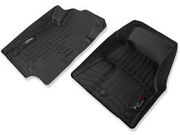 Laser Measured All Weather Floor Mats by Weathertech Mustang Front All Weather Floor Liners Black 444681