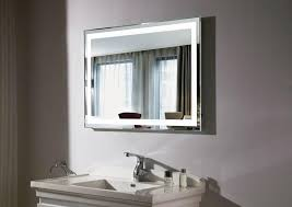 bathroom lighted mirror wall mounted magnifying illuminated