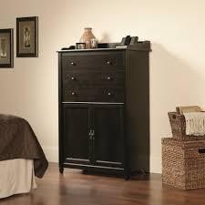 Sauder Edge Water Computer Desk Estate Black by Furniture Computer Desk Armoires Desk Armoire Laptop Desk Armoire