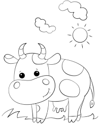 Click To See Printable Version Of Cute Cartoon Cow Coloring Page