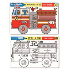 Melissa & Doug | Colour-A-Mat - Fire Engine - SmartyPants: Clothing ... Melissa Doug Fire Truck Floor Puzzle Chunky 18pcs Disney Baby Mickey Mouse Friends Wooden 100 Pieces Target And Awesome Overland Park Ks Online Kids Consignment Sale Sound You Are My Everything Yame The Play Room Giant Engine Red Door J643 Ebay And Green Toys Peg Squirts Learning Co Truck Puzzles 1