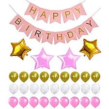 Pink And Gold Birthday Themes by Amazon Com Pink Happy Birthday Banner Decorations Set Pink And