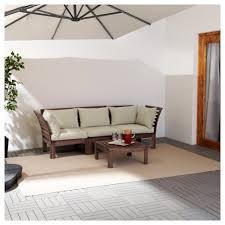 Runnen Floor Decking Outdoor Brown Stained by äpplarö Hållö 3 Seat Sofa Outdoor Brown Stained Hållö Beige