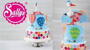 baby torte mit 3d storch baby shower cake babyparty sallys welt